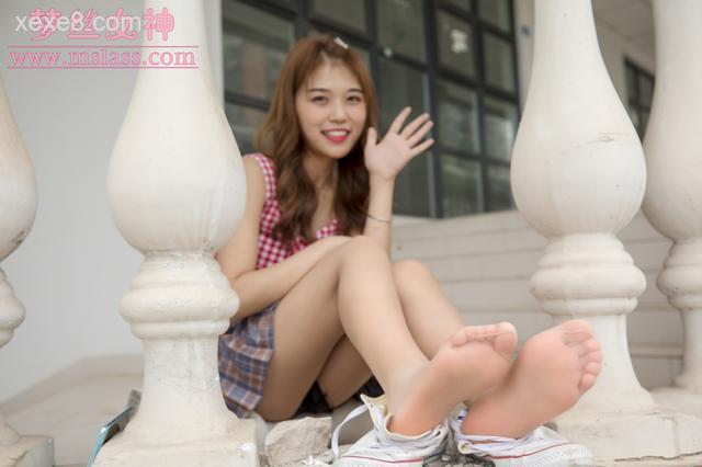 [梦丝女神写真] 笑笑 甜甜的袜