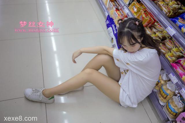 [梦丝女神写真] 玥玥 超市的吃货少女
